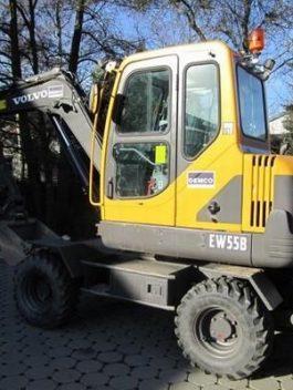 Volvo Ew55b Compact Wheel Excavator Full Service Repair Manual Pdf Download