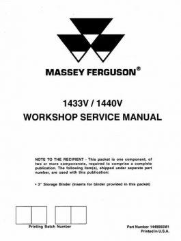 Massey Ferguson 1433V 1440V Service Manual