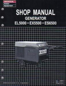 Honda EL5000 Generator Shop Manual