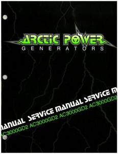 Arctic Cat 3000GD2 Generator Shop Manual